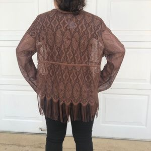 Intricate brown Lane Bryant cover up